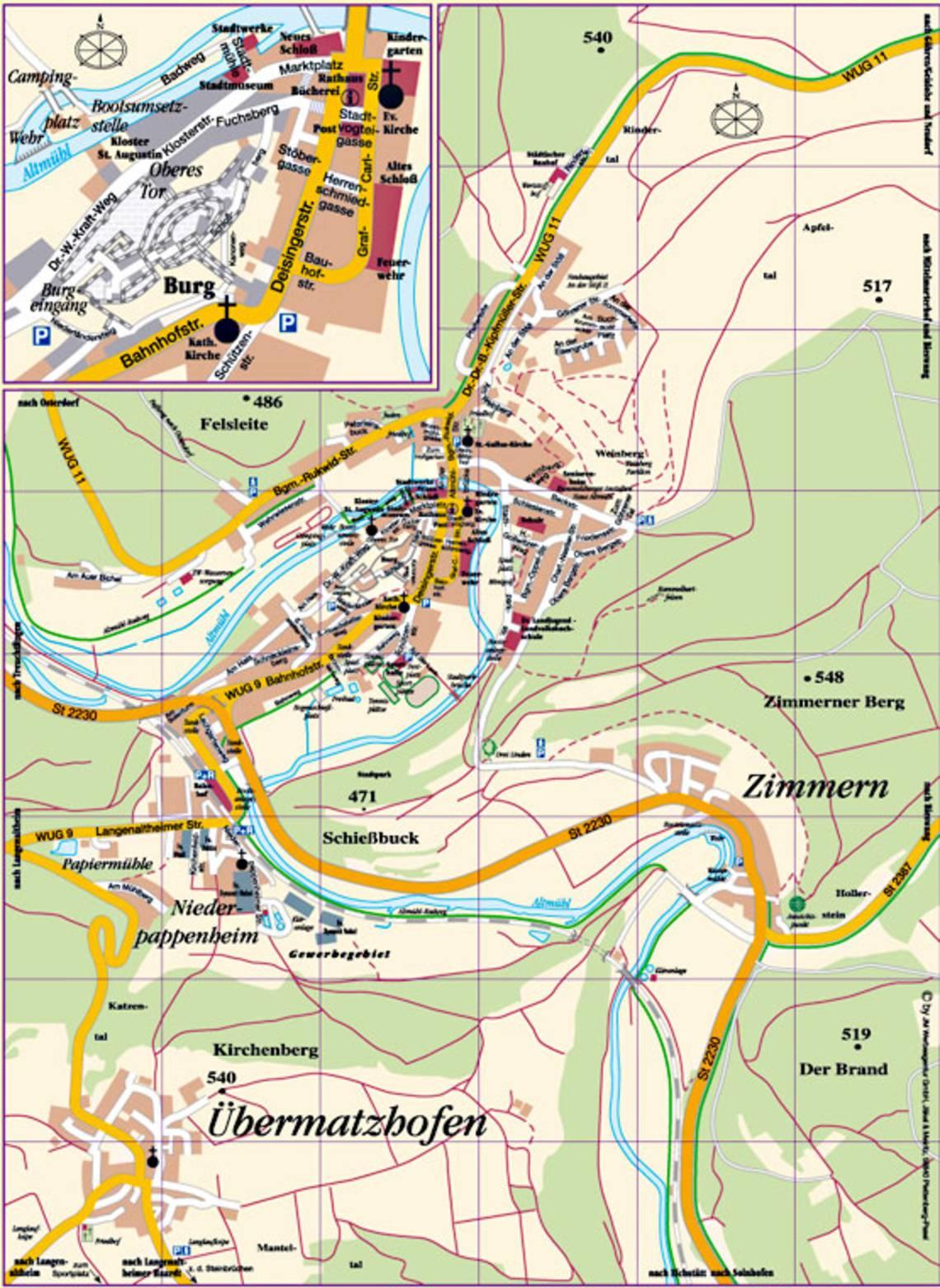 Stadt Pappenheim :: Stadtplan